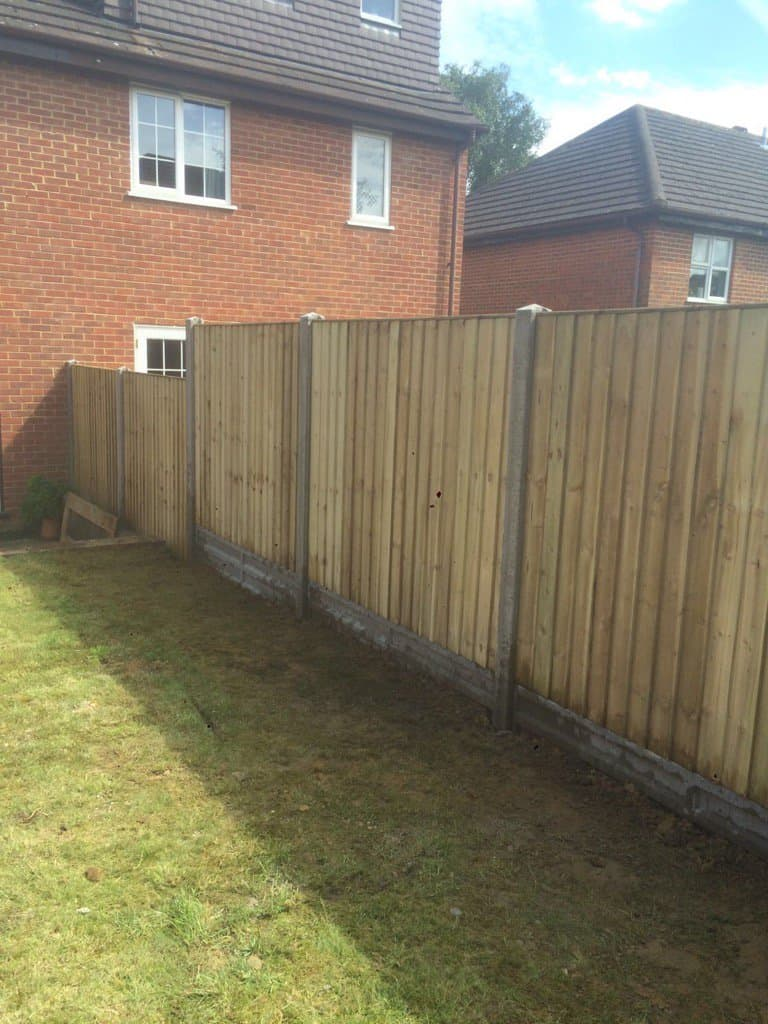 Closeboard Fence Panel Gold concrete posts maidstone kent
