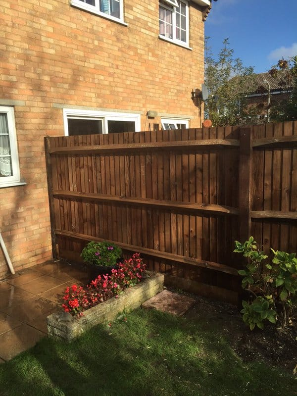 Closeboard Fencing with Arris Rails
