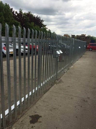 metal palisade fencing kent